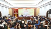 Hội nghị về bầu cử của Ủy ban Trung ương MTTQ Việt Nam chiều 2-3. Ảnh: VIẾT CHUNG