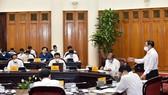 Thủ tướng Chính phủ Phạm Minh Chính chủ trì cuộc họp về phòng, chống dịch bệnh Covid-19. Ảnh: VIẾT CHUNG