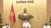 Thủ tướng Phạm Minh Chính chủ trì phiên họp Chính phủ thường kỳ tháng 8 năm 2021. Ảnh: VIẾT CHUNG