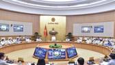 Thủ tướng Phạm Minh Chính chủ trì họp Chính phủ. Ảnh: VIẾT CHUNG