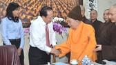Lãnh đạo TPHCM thăm, chúc tết 3 Phó Pháp chủ Hội đồng Chứng minh Giáo hội Phật giáo Việt Nam