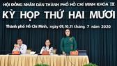 Phiên thảo luận tại hội trường Kỳ họp thứ 20 HĐND TPHCM khóa IX. Ảnh: VIỆT DŨNG