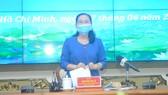 Chủ tịch HĐND TPHCM Nguyễn Thị Lệ phát biểu tại phiên họp thứ X. Ảnh: CAO THĂNG