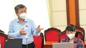 Đại biểu Trương Trọng Nghĩa phát biểu thảo luận tổ. Ảnh: VIỆT DŨNG