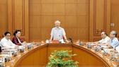 Tổng Bí thư, Chủ tịch nước Nguyễn Phú Trọng chủ trì cuộc họp. Ảnh: VIẾT CHUNG