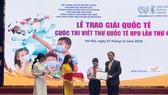 Cuộc thi Viết thư quốc tế UPU lần thứ 50 lấy chủ đề đại dịch Covid-19