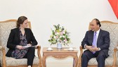 Prime Minister Nguyen Xuan Phuc and his Danish guest Ellen Trane Norby (Photo: VNA)