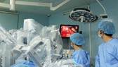 A surgery performed by robot in Binh Dan Hospital. (Photo: SGGP)