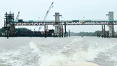 Cay Kho sluice gate in Binh Chanh District, one of key components of the mammoth anti-flooding project (Photo: SGGP)