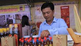Nam O Fish sauce products are displayed (Photo: SGGP)