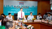 The discussion 'Necessary & Sufficient Conditions to Form an Innovative Thu Duc City: Advantages – Disadvantages – Route'. (Photo: SGGP)