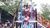 Ribbon-cutting ceremony for play school yard held in border crossing