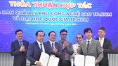The agreement signing ceremony between SHTP and VNU-HCMC