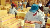 Workers of Yen Bai Joint Stock Forest Agricultural Products and Foodstuff Company (CAP) make votive paper. Votive paper segment accounts for 50 per cent of CAP's total revenue. Photo courtesy of the company