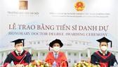Hanoi University presents Honorary Doctor Degree to Hong Kong businessman