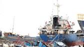 Fishing boat is sunk in the Hon La Port