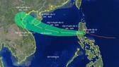 Typhoon Podul enters East Sea