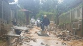 Heavy downpours trigger soil and rock downslope