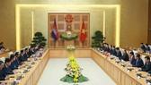 At the talks (Photo: VNA)