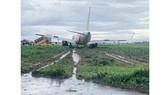 Vietjet aircraft skids off runway at Tan Son Nhat International Airport on Sunday