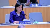 Vietnamese Ambassador Le Thi Tuyet Mai speaks at the opening session of the 61st series of meetings of the Assemblies of the Member States of WIPO on September 21 (Photo: VNA)