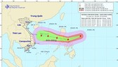 The National Center for Hydro-meteorology Forecasting provides a path map of supper typhoon Goni