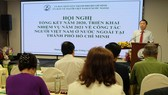 Phó Chủ tịch UBND TPHCM Dương Anh Đức phát biểu tại hội nghị. Ảnh: THU HƯỜNG