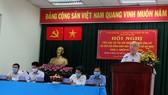 Ứng cử viên Phan Nguyễn Như Khuê trình bày chương trình hành động trước cử tri TP Thủ Đức