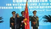 Phó Thủ tướng Thường trực Trương Hòa Bình  trao Huân chương Bảo vệ Tổ quốc cho Cục Gìn giữ hòa bình Việt Nam (Bộ Quốc phòng)