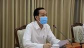 Phó Chủ tịch Thường trực UBND TP Lê Thanh Liêm chủ trì cuộc họp