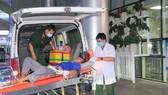 Bệnh nhân được chuyển đến Bệnh viện Quân y 175 trong tình trạng vẫn hôn mê, sốt nhẹ