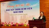 PGS.TS Phạm Thị Ngọc Thảo, Phó Giám đốc BV Chợ Rẫy phát biểu tại hội thi