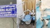 """Bên dưới chung cư là biển hiệu """"Công ty TNHH Mỹ phẩm Chang Beauty"""", tại tầng 2 chung cư là cơ sở dịch vụ thẩm mỹ nhưng có chứng cứ của phẫu thuật thẩm mỹ trái phép"""