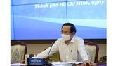 Bí thư Thành ủy TPHCM Nguyễn Văn Nên phát biểu chỉ đạo tại cuộc họp. Ảnh: TTBC