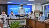Phó Chủ tịch UBND TPHCM Lê Hòa Bình thông tin tại buổi họp báo
