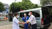 PGS-TS-BS Lê Đình Thanh, Giám đốc Bệnh viện Thống Nhất động viên đội ngũ y bác sĩ trước giờ lên đường