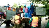 Diễn tập tình huống di dời 200 người tại vùng ngập sâu hơn 4m tại Quảng Ngãi