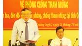 Đồng chí Nguyễn Hòa Bình làm việc với tỉnh Quảng Ngãi về phòng chống tham nhũng