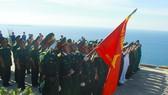 Lễ thượng cờ trên đỉnh Thới Lới đảo Lý Sơn