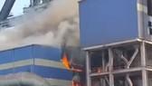 Quảng Ngãi: Cháy trạm cấp dầu thủy lực Khu sản xuất gang thép Hòa Phát Dung Quất