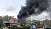 Quảng Ngãi: Cháy lớn ở nhà dân thu mua phế liệu