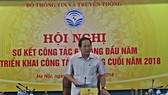 Minister Truong Minh Tuan addresses the meeting. (MIC photo)