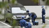 Cảnh sát điều tra hiện trường vụ cướp ở TP Fukuoka, Nhật Bản, ngày 20-4-2017. Ảnh: Kyodo