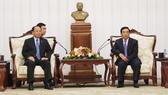 Đoàn đại biểu cấp cao TPHCM chào xã giao lãnh đạo nước CHDCND Lào