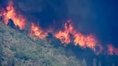Hình ảnh cắt từ clip ghi nhận vụ cháy rừng tại Mỹ của Reuters