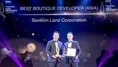 """SonKim Land nhận giải """"Best Boutique Developer"""" tại lễ trao Giải thưởng Bất động sản châu Á 2018 """