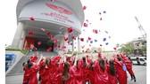 Sinh viên Trường Đại học Quốc tế Hồng Bàng trong lễ tốt nghiệp