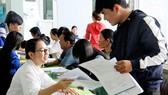 Thí sinh đăng ký xét tuyển học bạ THPT vào một trường đại học