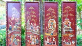 Tiếp nhận bộ tranh sơn mài quý về nội dung Truyện Kiều