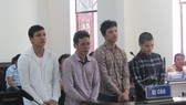 Các bị cáo tại phiên tòa 31-10